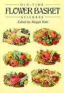 OLD-TIME FLOWER BASKET STICKERS:16 PRES
