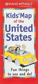 Rand McNally Kids' Map of the United States: Fun Things to See and Do![洋書]