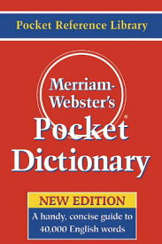 Merriam-Webster's Pocket Dictionary MERM-WEB PCKT DICT [ Merriam-Webster ]
