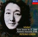 DECCA Best 100 62::シューベルト:ピアノ・ソナタ第21番 楽興の時(全6曲)