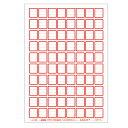 (2411-2601)埼玉福祉会 SAIFUKU ラベル A4規格 3段ラベル(1シート80枚付) 赤 30シート 図書用ラベル 図書…