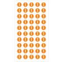 (2411-3004)埼玉福祉会 SAIFUKU 案内ラベル「教師用」 20mm2シート(100枚) 図書用ラベル 図書館用シール 整…