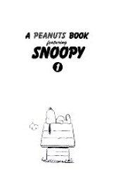 【中古】 A PEANUTS BOOK featuring SNOOPY(1) /チャールズ・M.シュルツ【著】,谷川俊太郎【訳】 【中古】afb