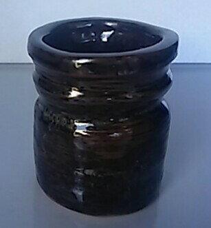【花器・花瓶】筒型歪み 高さ約10cm【中古品】【期間限定】送料無料