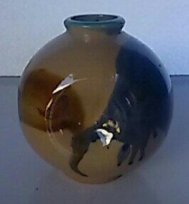【花器・花瓶】壷型 高さ約10cm【中古品】【期間限定】送料無料