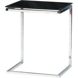 サイドテーブル ガラス天板 おしゃれ スクエア型 ソファーテーブル ガラスサイドテーブル 幅45cm ブラック ガラステーブル ガラスデスク ガラス机 ベッドサイドテーブル ベットサイドテーブル ナイトテーブル ソファサイドテーブル ソファーサイドテーブル pt-15bk