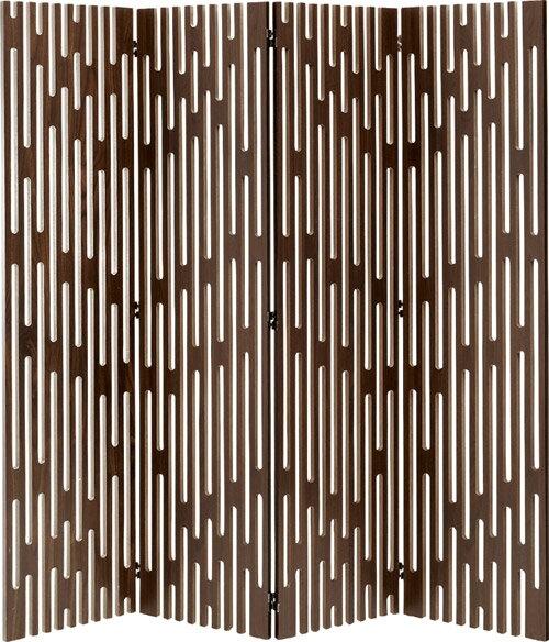 完成品 衝立 4連 木製 洋風 お洒落 ヴェレ ウォールナット 間仕切り パーテーション つい立て ついたて パーティション 目隠し ウッドブラインド ブラインド 木製ブラインド 160cm 北欧 おしゃれ 間仕切り家具 間仕切りパーテーション 洋室 和室 リビング tss-652wal