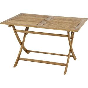 折りたたみ 木製 ガーデン テーブル ニノ 幅120cm パラソルホール付 木製テーブル 机 つくえ ガーデンテーブル ベランダ アウトドア おしゃれ お洒落 オシャレ シンプル 折り畳みテーブル 折
