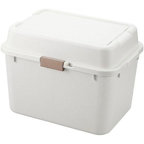 送料無料 収納ボックス(コンテナ) ルームパック 幅62cm アイボリー