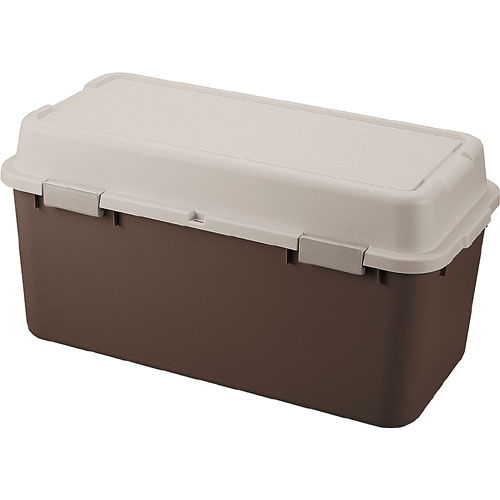送料無料 収納ボックス(コンテナ) ルームパック 幅88cm ブラウン