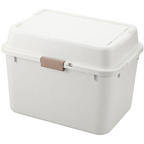 送料無料 収納ボックス(コンテナ) ルームパック 幅62cm アイボリー(2個組)