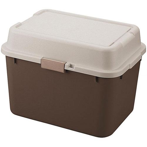 送料無料 収納ボックス(コンテナ) ルームパック 幅62cm ブラウン(2個組)