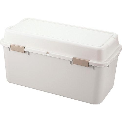 送料無料 収納ボックス(コンテナ) ルームパック 幅88cm アイボリー(2個組)