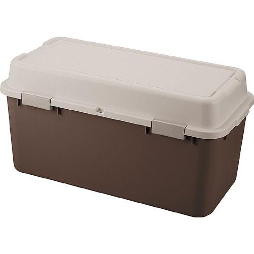 送料無料 収納ボックス(コンテナ) ルームパック 幅88cm ブラウン(2個組)
