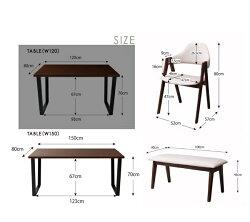 ダイニングテーブル4点セットWyrdヴィールド4点セットテーブル幅150+チェア×2脚+ベンチ4人掛け4人用ダイニングセットダイニングテーブルセット食卓セット食卓テーブルダイニングチェア木製チェアー椅子イスシンプル長椅子