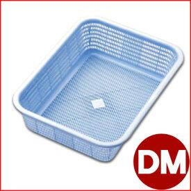 リス キッチンバスケット DM ブルー 41.8×31.6cm プラスチック製水切りカゴ