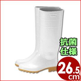 アキレス ワークマスター長靴 白 26.5cm 耐油性 作業用長靴