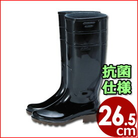 アキレス ワークマスター長靴 黒 26.5cm 耐油性 作業用長靴