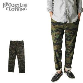 HISTORY LIFE CLOTHING ヒストリーライフクロージング ストレッチパンツ メンズ カモフラージュ柄