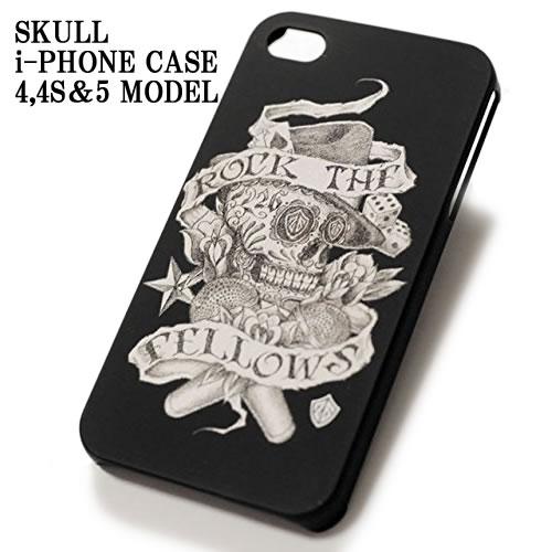 FLOW フロウ のボーカル KOHSHI のブランド! ロック ザ フェローズ iPhoneケース 4 4S 5 用 ROCK THE FELLOWS iPhone CASE SKULL アイフォンケース