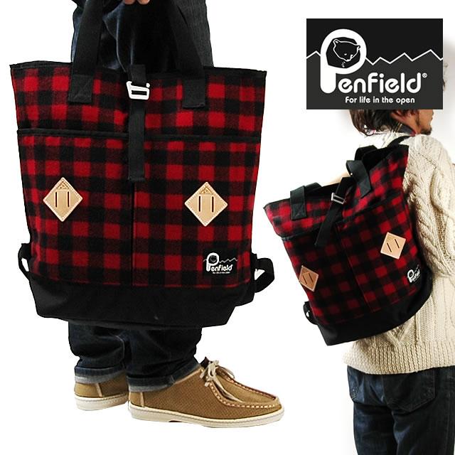 Penfield BLK×WOOL RICH ペンフィールド ブラックレーベル×ウールリッチ 2WAY リュックサック トートバッグ ユニセックス メンズ レディース