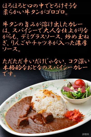 牛たんカレー仙台牛タン焼専門店司大人のカレースパイシー辛口レトルトパウチビーフカレー牛タン仙台