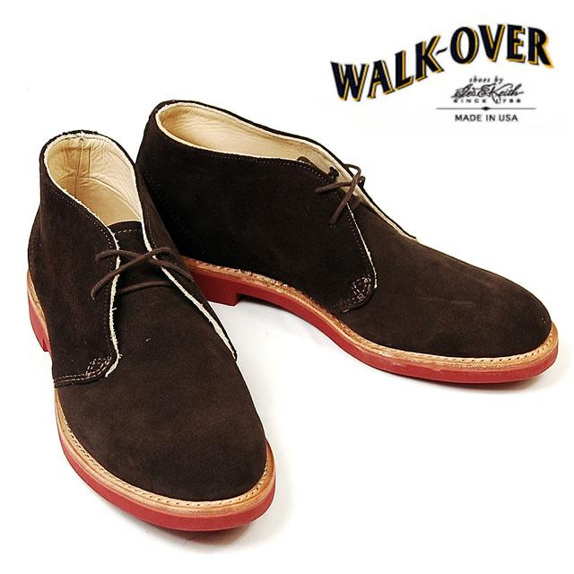 【並行輸入品】 WALK OVER ウォークオーバー チャッカブーツ CHUKKA CLASSICS メンズ チョコレート スエード