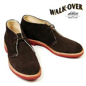 【並行輸入品】 WALK OVER ウォークオーバー チャッカブーツ CHUKKA CLASSICS メンズ チョコレート スエード 26.5cm US8.5