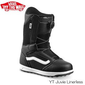 【エントリーでP10倍 最大36倍!1/10限定】20-21 ヴァンズ バンズ キッズ スノーボード ブーツ VANS JUVIE LINERLESS 子供 スノボ ダイヤル式 靴 予約 正規品