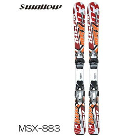 スワロー キッズ スキー板 金具付 スキーセット チロリア Tyrolia ビンディング SWALLOW MSX-883 子供用 ジュニア スキー セット ビンディング付 2点セット 板 red レッド