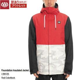 訳あり 19-20 アウトレット ジャケット スノーウェア シックスエイトシックス 686 Foundation Insulated Jacket Red Colorblock メンズ 男性用 2020