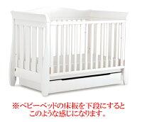 【ブーリ】BOORI6歳までベッド用床板下収納ケース(キャスター付き)