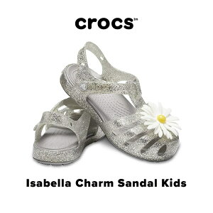 【30%OFF SALE】Isabella Charm Sandal Kids【イザベラ チャーム サンダル キッズ】サンダル ストラップ 女の子 ガールズ キラキラ ラメ お花 フラミンゴ セールクロックス正規取扱店なの