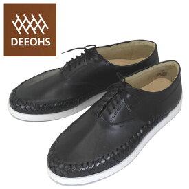 sale セール 正規取扱店 DEEOHS (ディオス) ML-1003T BRAVO (ブラボー) レースアップ ローカット メンズ レザーシューズ black (ブラック) DE028