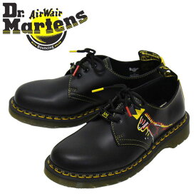 正規取扱店 Dr.Martens (ドクターマーチン) 27186001 1461 BASQUIAT II 3EYE バスキア レザーシューズ BLACK x DMS YELLOW