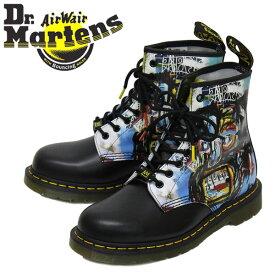 正規取扱店 Dr.Martens (ドクターマーチン) 27187001 1460 BASQUIAT II 8EYE バスキア レザーブーツ BLACK x MULTI