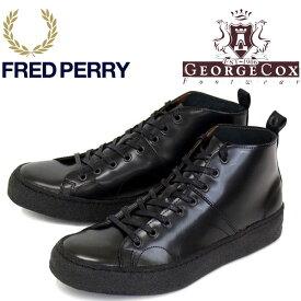 正規取扱店 FRED PERRY (フレッドペリー)XGEORGE COX (ジョージコックス) B2273-102 CREERER MID LEATHER モンキーブーツ 102-BLACK FP284