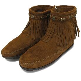 sale セール 正規取扱店 MINNETONKA(ミネトンカ) HELLO KITTY Fringe Boot(フリンジブーツ) #693K DUSTYBROWN レディース MT364
