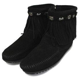 sale セール 正規取扱店 MINNETONKA(ミネトンカ) HELLO KITTY Fringe Boot(フリンジブーツ) #699K BLACK レディース MT363