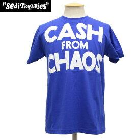 正規取扱店 SEDITIONARIES by 666 (セディショナリーズ) CASH FROM CHAOS Tシャツ ブルー STO0010