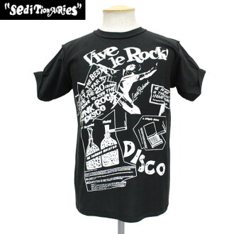 Regular dealer SEDITIONARIES by 666 (セディショナリーズ) Vive Le Rock (ヴィヴァラロック) T-shirt BLACK black STZ010