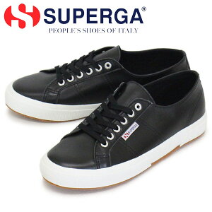 正規取扱店 SUPERGA (スペルガ) S8115BW 2750-NAPLNGCOT U レザースニーカー C39 BLACK/WHITE SPG032