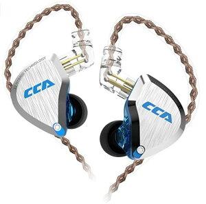 CCA C12 イヤモニ型 ハイブリッド イヤホン 高音質 カナル型 片側 バランスド・アーマチュアドライバー5基+ダイナミック1基を搭載 6ドライバ 音源と相性が良い 高遮音性 リケーブル 可能 (ブ