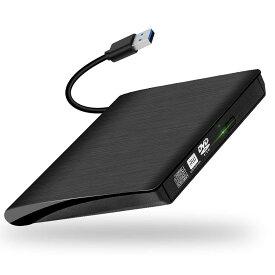 DVDドライブ USB 3.0外付け Window/Mac OS両対応 高速 静音 超スリム CD/DVD読取・書込 DVD±RW CD-RW 外部電源不要 レコーダー