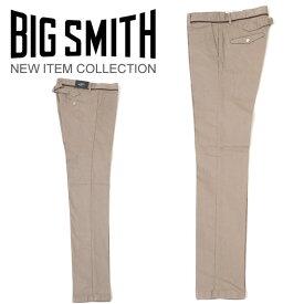 BIG SMITH /ビッグスミス/メンズ日本製シンチバックトラウザーズストレッチパンツBSM536B ベージュ 67