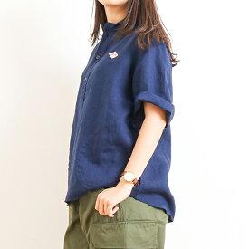 ダントン DANTONリネンクロス丸襟プルオーバーシャツ 半袖LINEN CLOTH PULLOVER S/S SHIRTJD-3565KLSレディース トップス シャツ