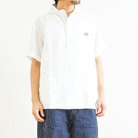 【予約商品 3月上旬〜3月下旬入荷予定】ダントン DANTONリネンクロス丸襟プルオーバーシャツ 半袖LINEN CLOTH PULLOVER S/S SHIRTJD-3569KLSメンズ トップス