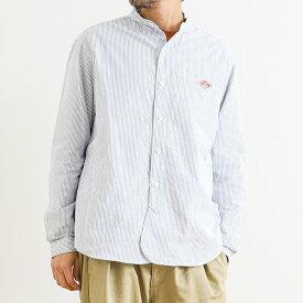 ダントン DANTON オックスフォード バンドカラーシャツ 長袖 OXFORD BAND COLLAR SHIRT JD-3607TRD メンズ トップス シャツ
