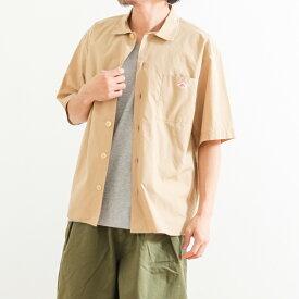 ダントン DANTONコットンポプリン ワイドシャツ 半袖COTTON POPLIN WIDE SHIRTJD-3609MSAメンズ トップス シャツ 半袖 開襟シャツ