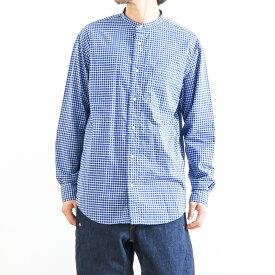 3effe434b08467 ジムフレックス Gymphlexバンドカラー チェックシャツ 長袖BAND COLLAR L/S CHECK SHIRTJ-